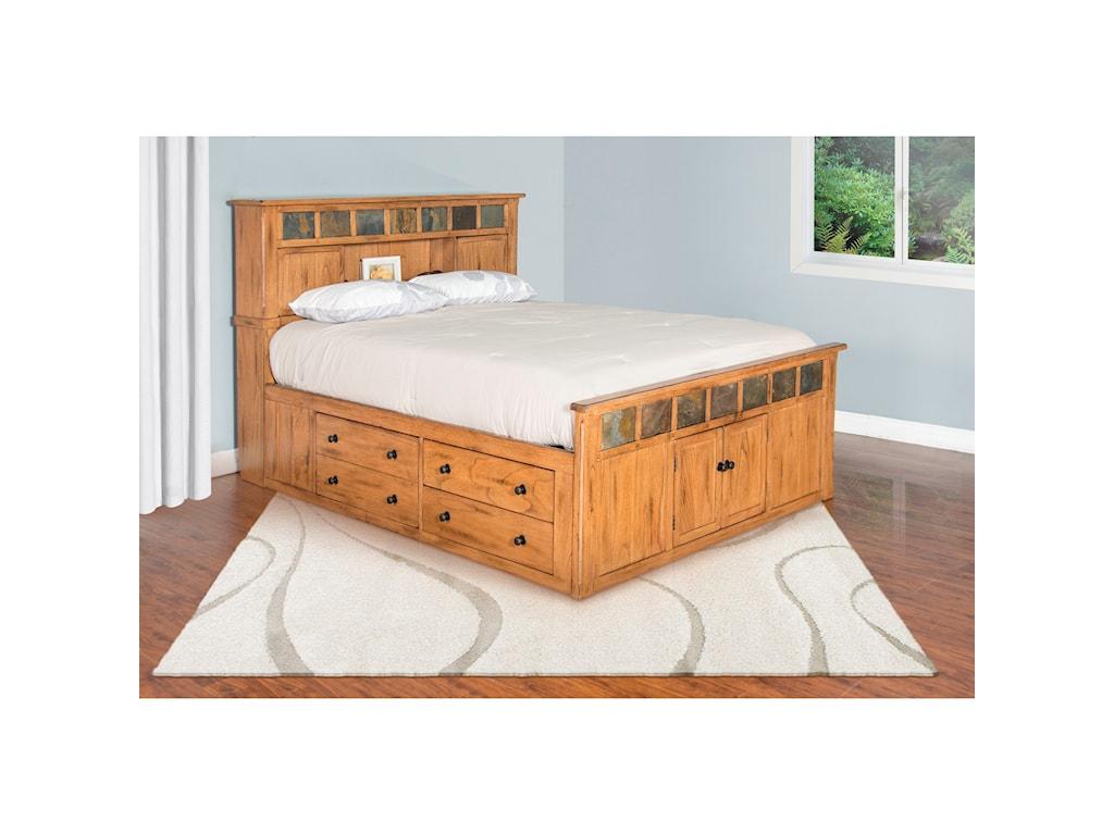Sunny Designs SedonaQueen Storage Bed w/ Slate