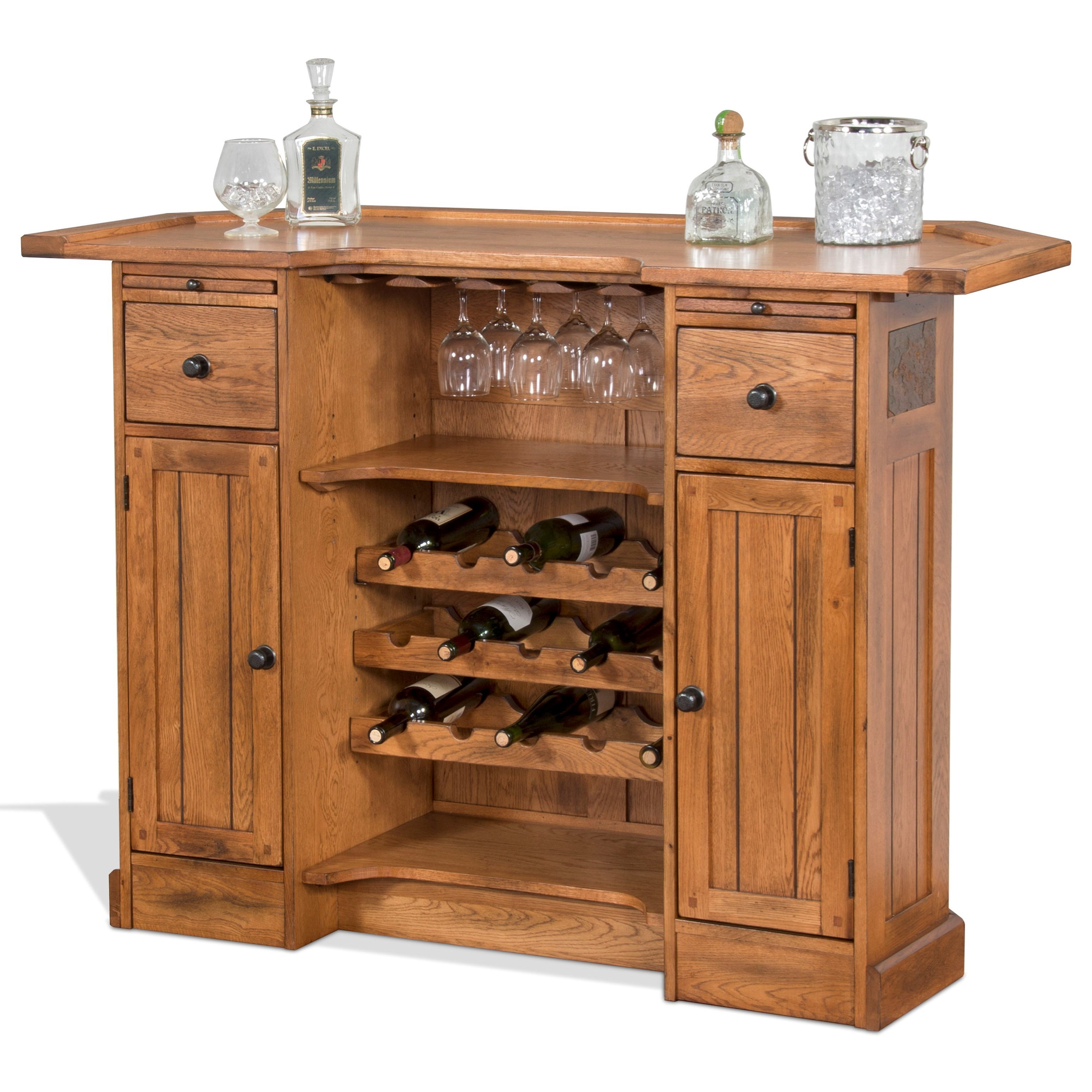 Sunny Designs Sedona Rustic Oak Bar