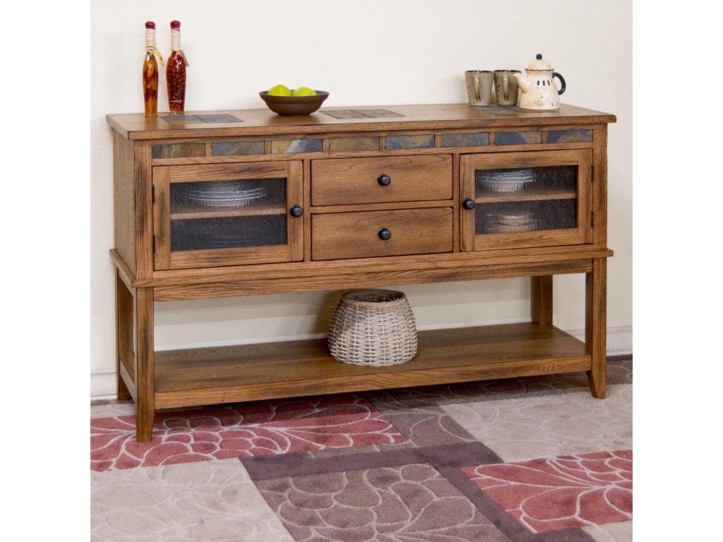 Market Square Morris HomeTrinidad 2 Drawer Server