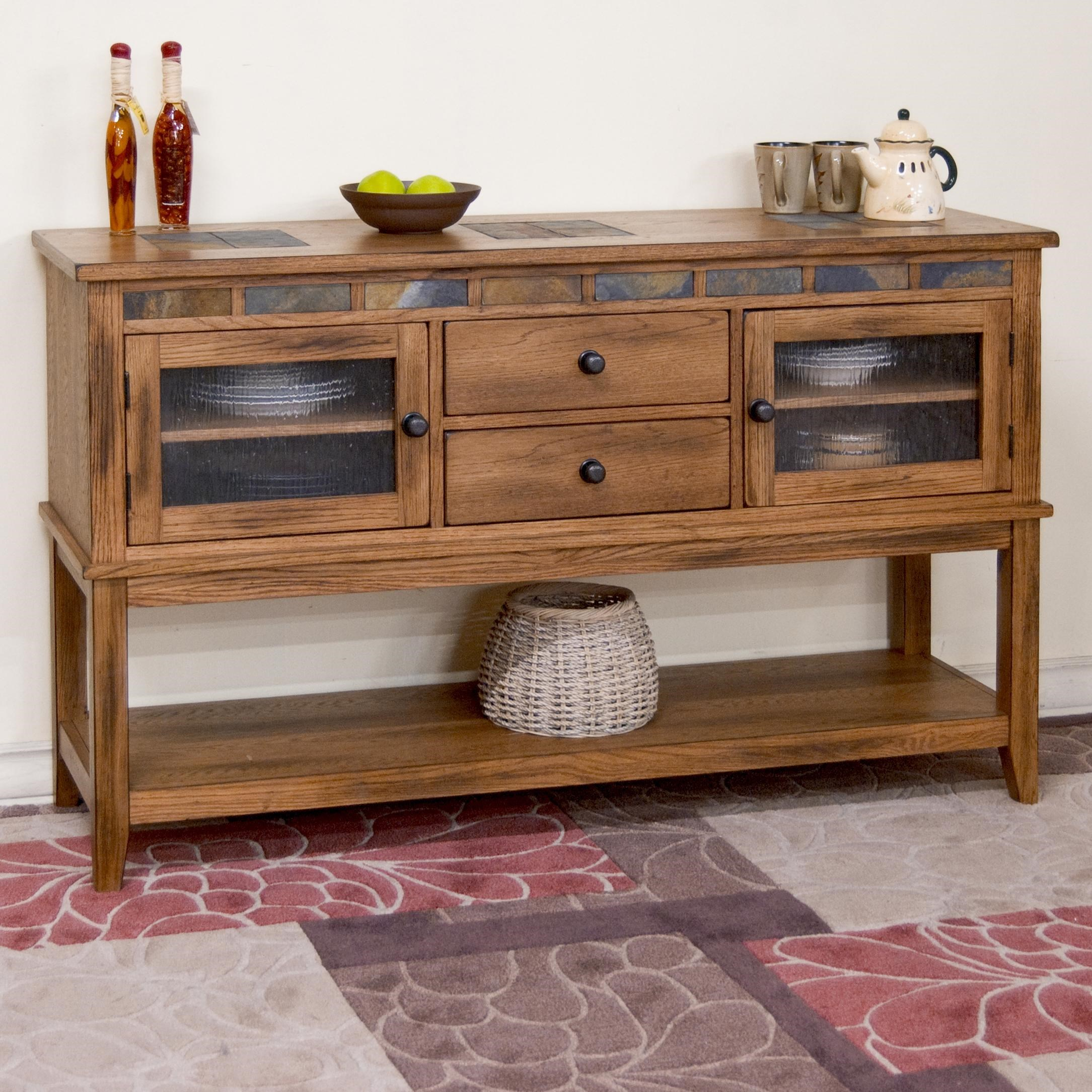 Sunny Designs SedonaSedona Server W/ 2 Drawers ...