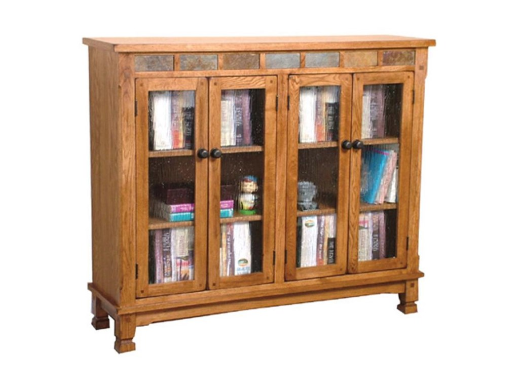 Sunny Designs Sedona Bookcase w/ Slate Tiles - Becker Furniture World - Closed  Bookcases - Sunny Designs Sedona Bookcase W/ Slate Tiles - Becker Furniture