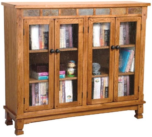 Sunny Designs Sedona Bookcase w/ Slate Tiles