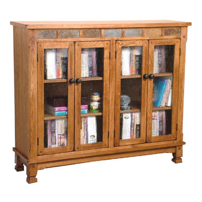 Sunny Designs Sedona Bookcase W/ Slate Tiles   Becker Furniture World    Closed Bookcases