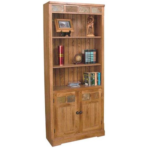 Sunny Designs Sedona Rustic Oak Door Bookcase