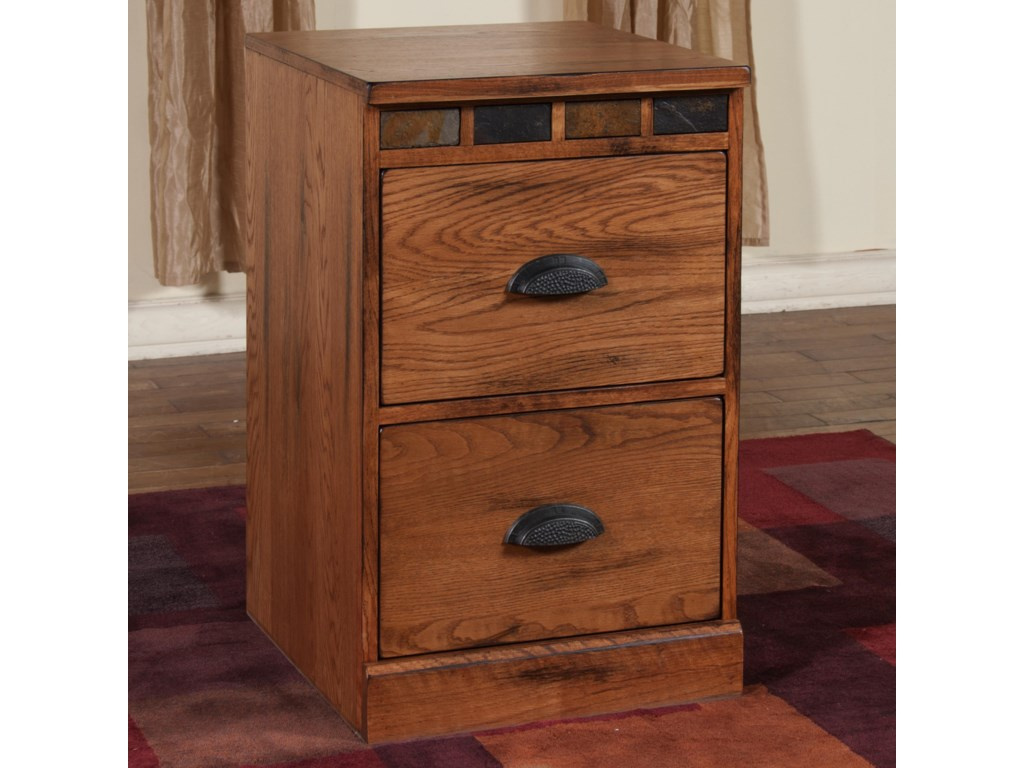 Sedona File Cabinet With Slate By Sunny Designs