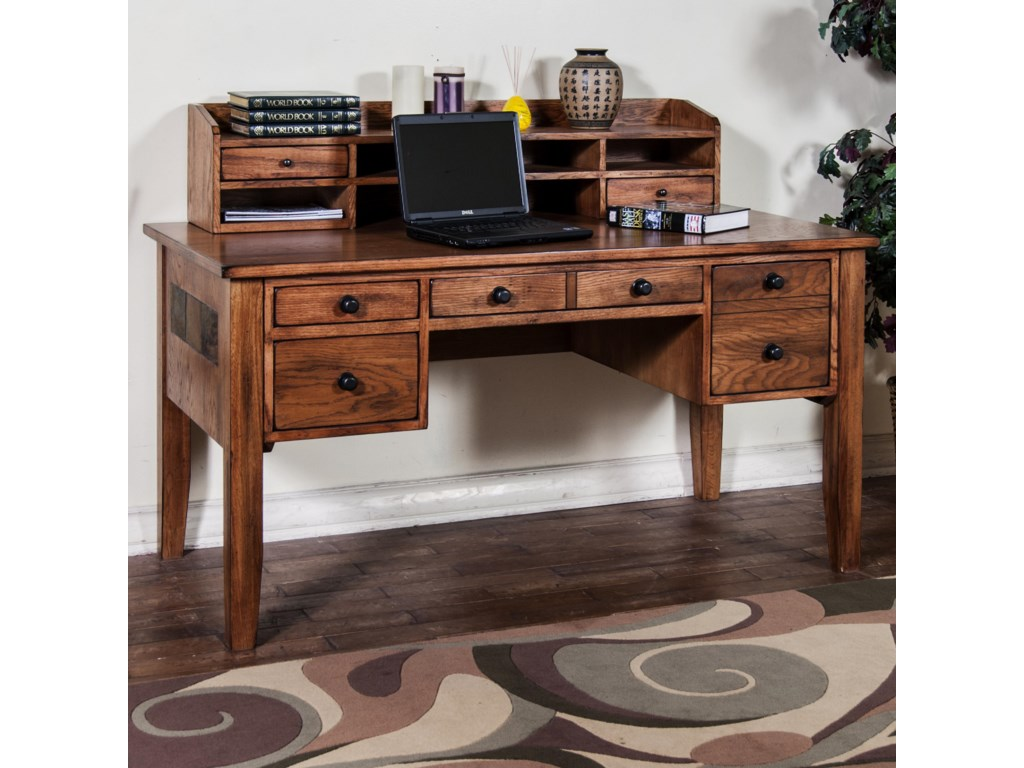 Sedona Writing Desk With Keyboard Drawer Hutch By Sunny Designs At John V Schultz Furniture