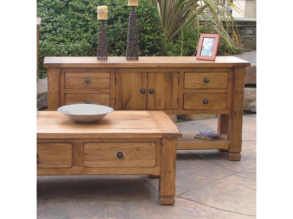 Sedona Rustic Oak Sofa Table By Sunny Designs At Conlin S Furniture