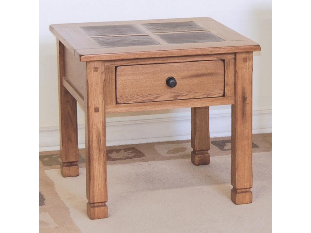 Sunny Designs SedonaEnd Table w/ Slate Top