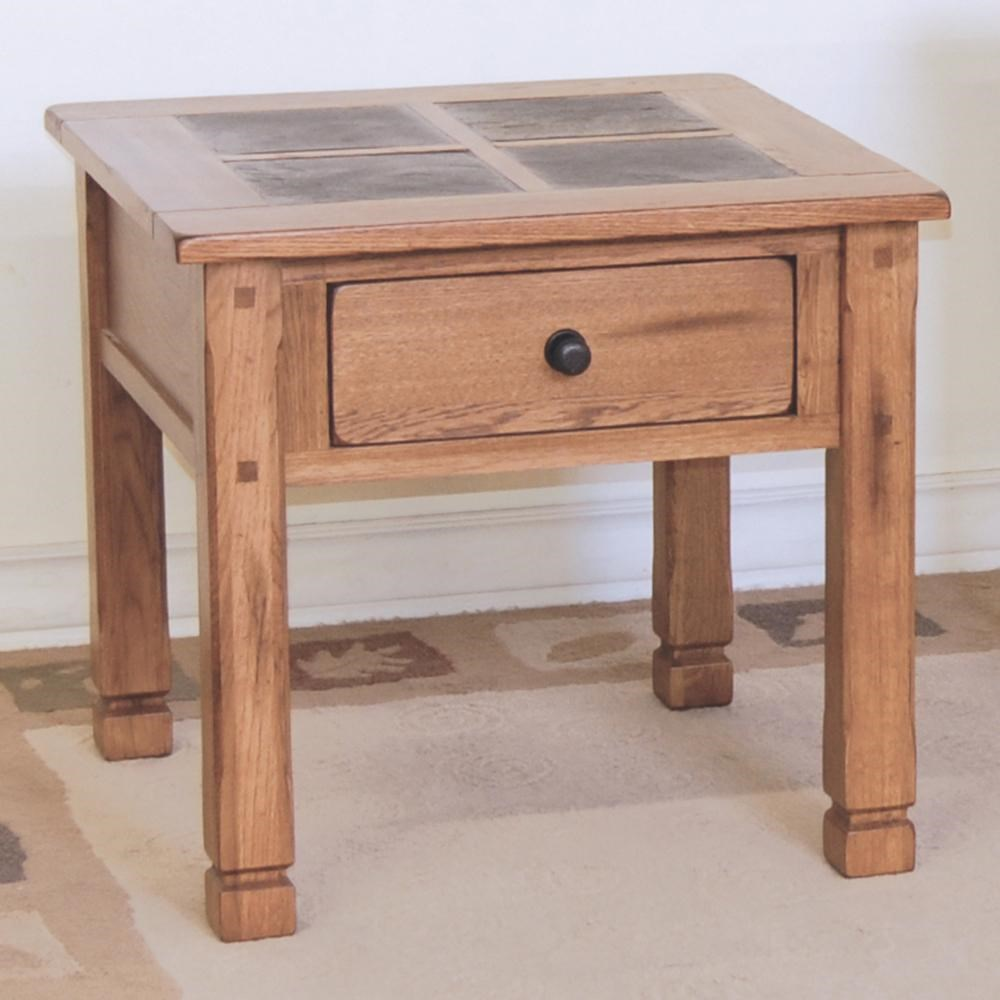 Attirant Sunny Designs SedonaEnd Table W/ Slate Top ...