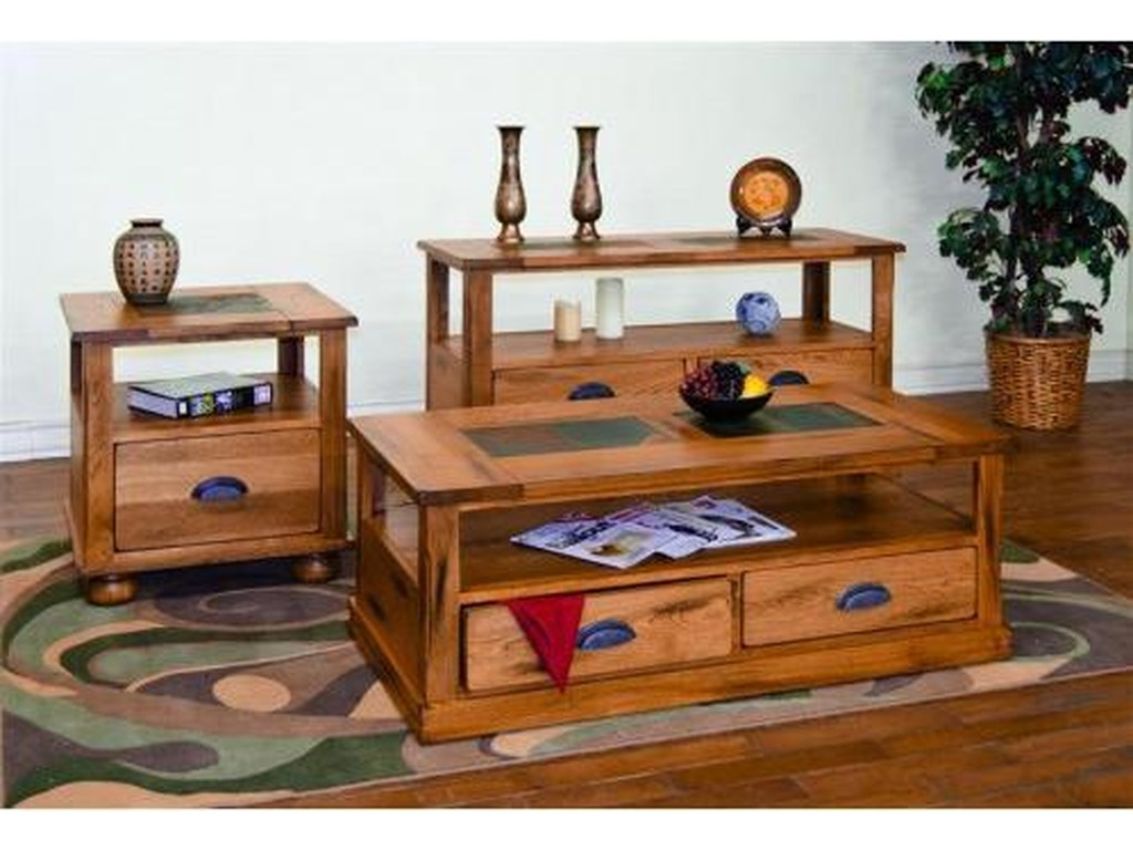 Sunny Designs SedonaCoffee Table w/ Drawers & Casters
