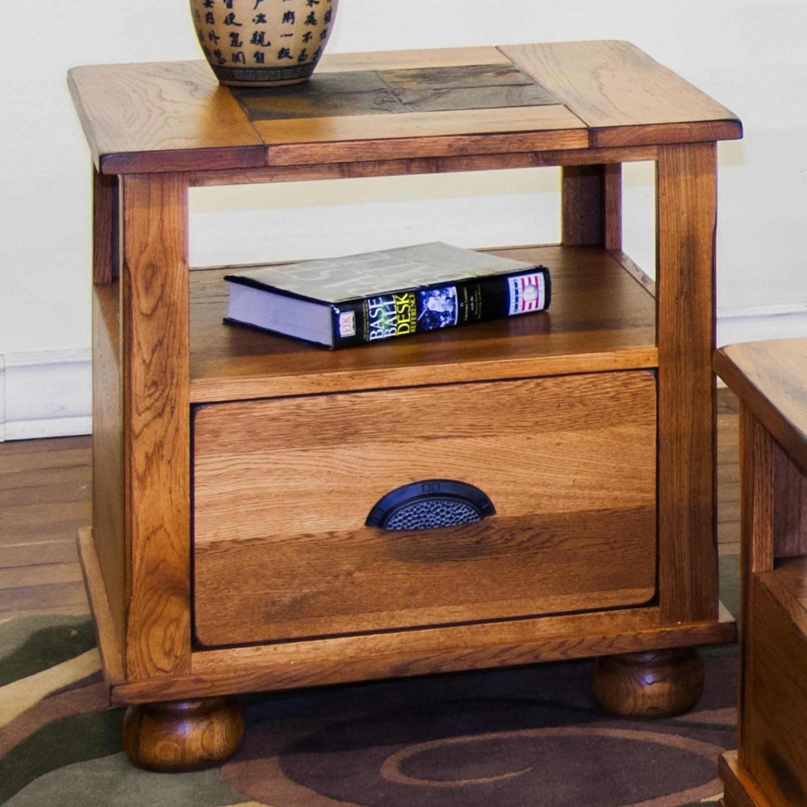 Sunny Designs SedonaEnd Table W/ Drawer ...