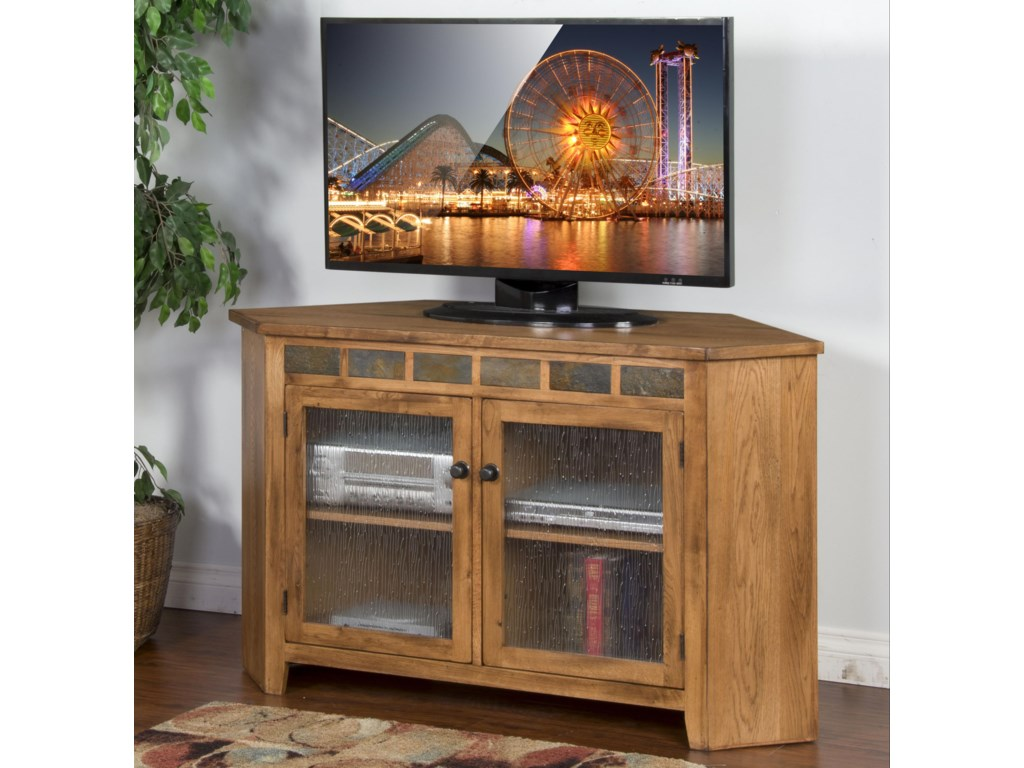 Sedona Corner Tv Console W Slate Tiles By Sunny Designs