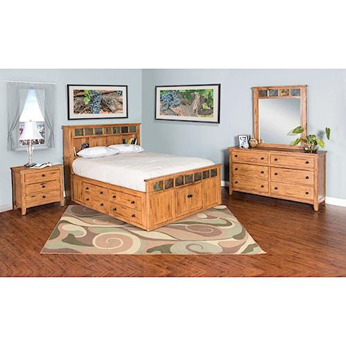 Sunny Designs Sedona Queen Bedroom Group Boulevard Home