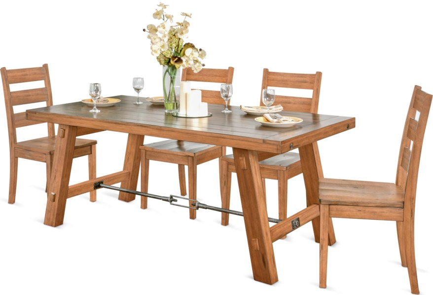 Sdin Sierra Rustic Dining Table With