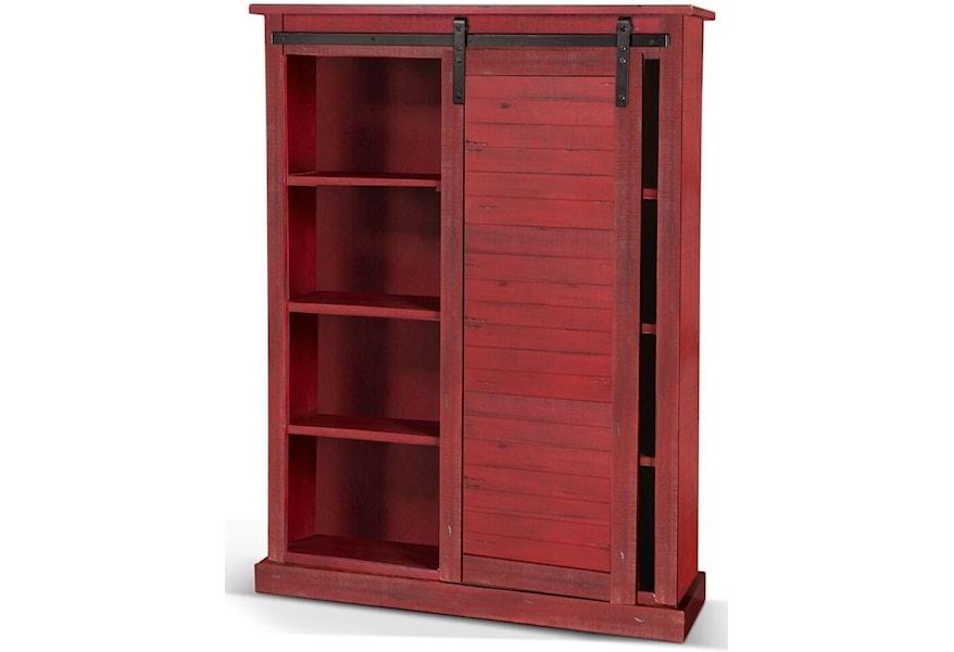 Sunny Office Barn Door Bookcase