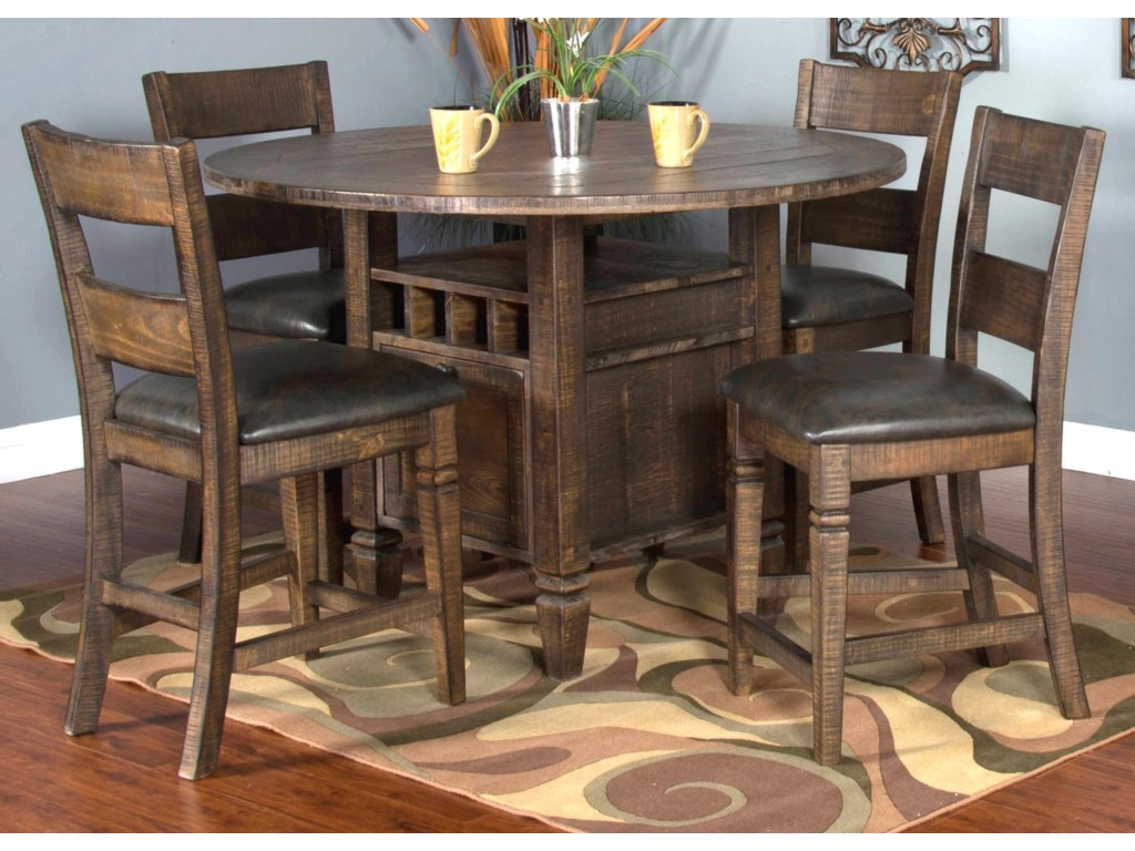 Market Square Thatcher 5-Piece Dining Set includes 4 Barstools ...