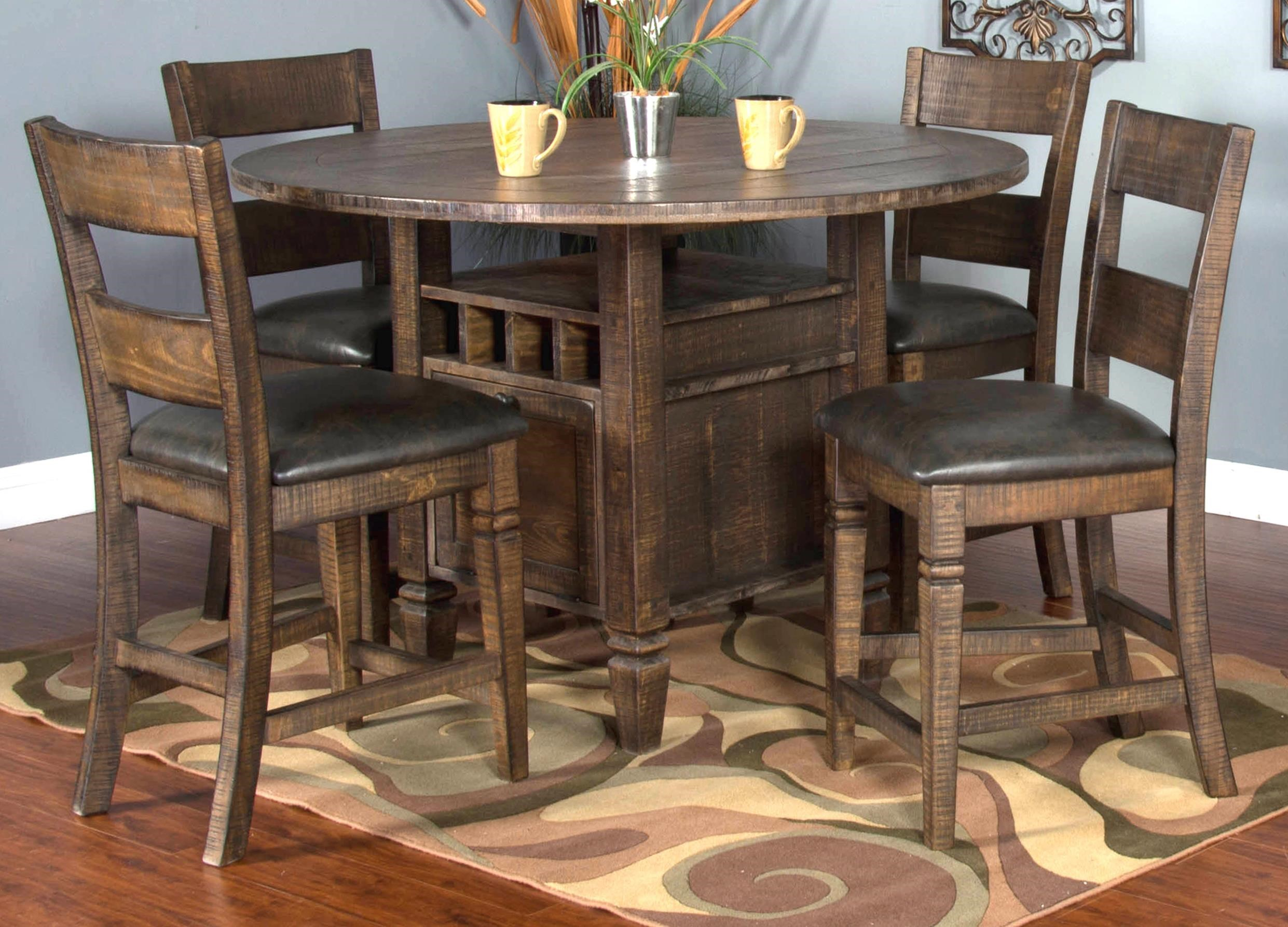 Dining Set For 4 Part - 34: Market Square Thatcher 5-Piece Dining Set Includes 4 Barstools - Morris  Home - Dining 5 Piece Set