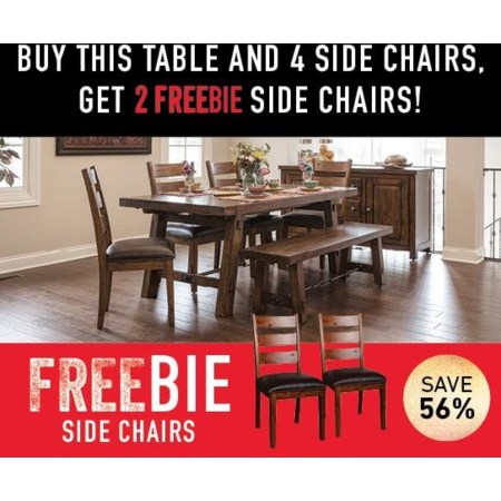 Tremont Dining Set with FREEBIE SIDE CHAIRS
