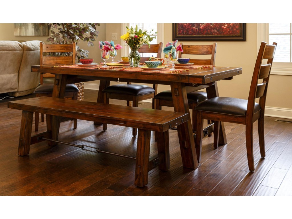 tremont piece dining set includes table and  side chairs  - tremont piece dining set includes table and  side chairs  morris home dining  piece sets