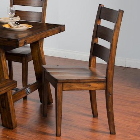 Ladderback Chair w/ Wood Seat