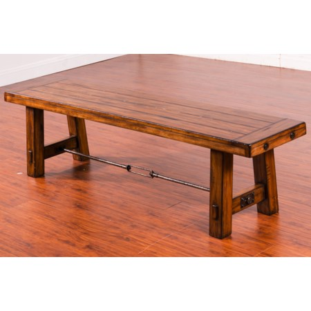 Dining Bench with Wood Seat