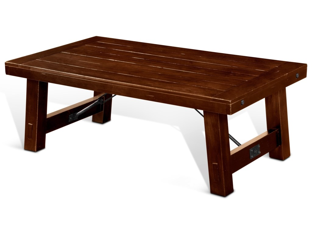 Rustic Coffee Table.Tuscany Rustic Coffee Table With Distressed Finish By Sunny Designs At Conlin S Furniture