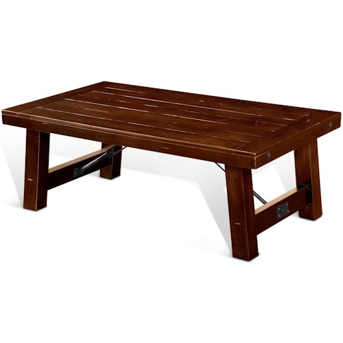 Sunny Designs Tuscany Rustic Coffee Table With Distressed Finish