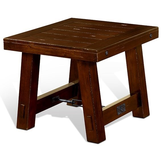Sunny Designs Tuscany Rustic End Table With Distressed Finish