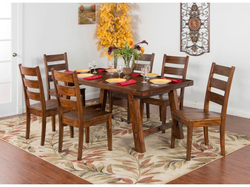 Sunny Designs TuscanyTable & 4 Upholstered Chairs