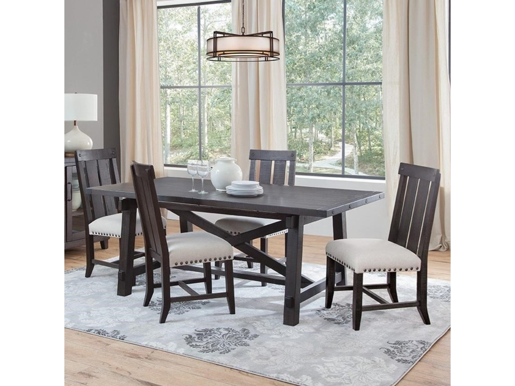 Sunny Designs Vivian 5 Piece Dining Set With Slat Back Chairs Wayside Furniture Dining 5 Piece Sets