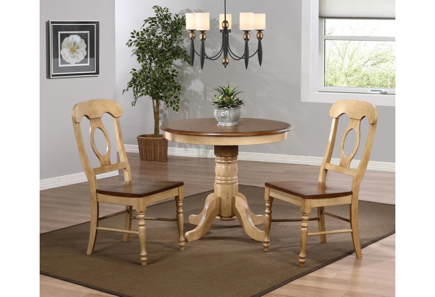 Blake 3pc Dinette Set W Round Table