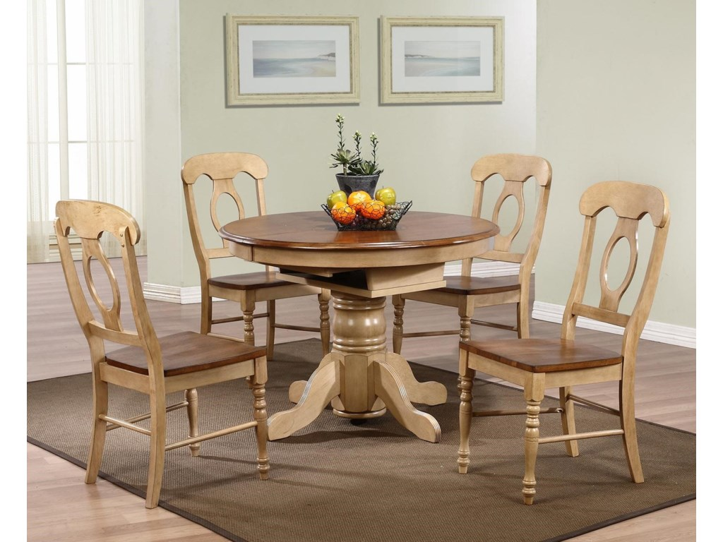 Sunset Trading Co. BlakeRound or Oval Pedestal Table