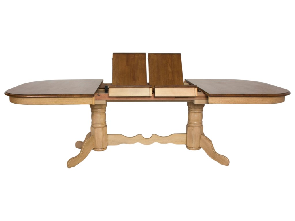 Sunset Trading Co. BlakeDouble Pedestal Dining Table