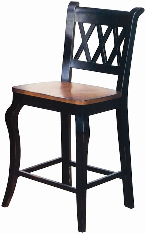 Sunset Trading Co. Sunset Selections Dining Barstool with X Back Design