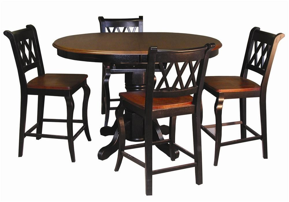 Shown with Single Pedestal Cafe Table
