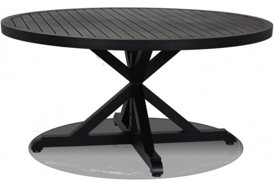 Sunset West Monterey 60 Inch Round Dining Table Belfort Furniture Outdoor Dining Table