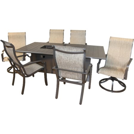 Fire Dining Table Set
