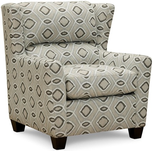 Superstyle 14 Accent Chair with Subtle Wing Back