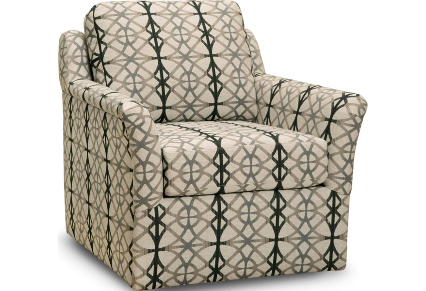 Superstyle 44 Swivel Chair With Flared Arms Jordan S Home Furnishings Upholstered Chairs