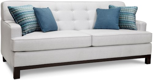 Superstyle 9678 Sofa with Button-Tufted Back and 4 Pillows