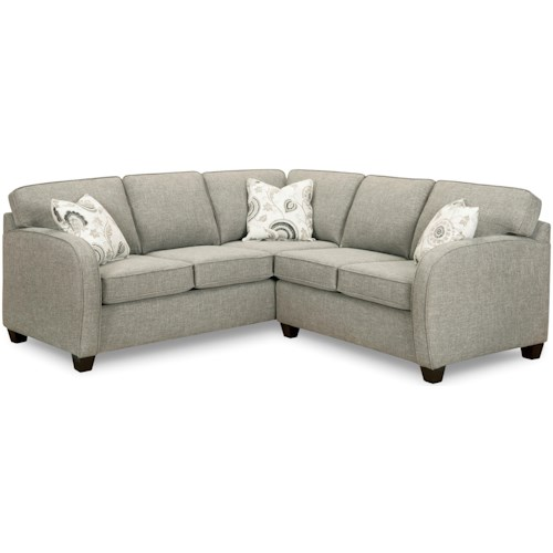 Superstyle 9684 Sectional Sofa with Curved Arms