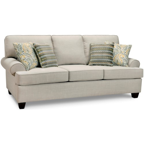 Superstyle 9698 Casual Rolled Arm Sofa
