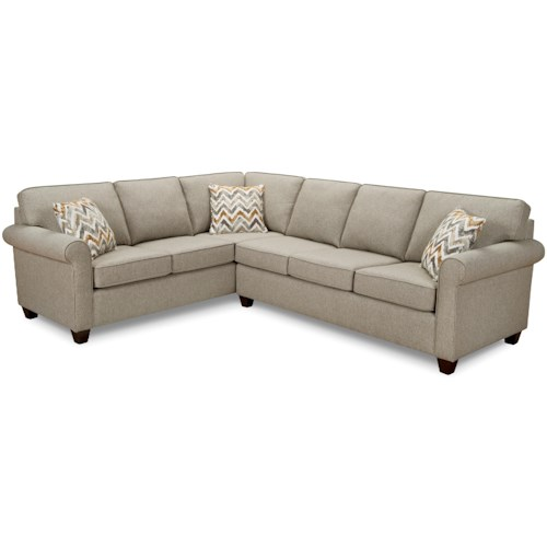 Superstyle 9701 Sectional Sofa with Rolled Arms