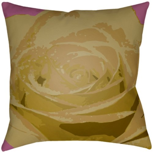 Surya Abstract Floral 18 x 18 x 4 Made to Order