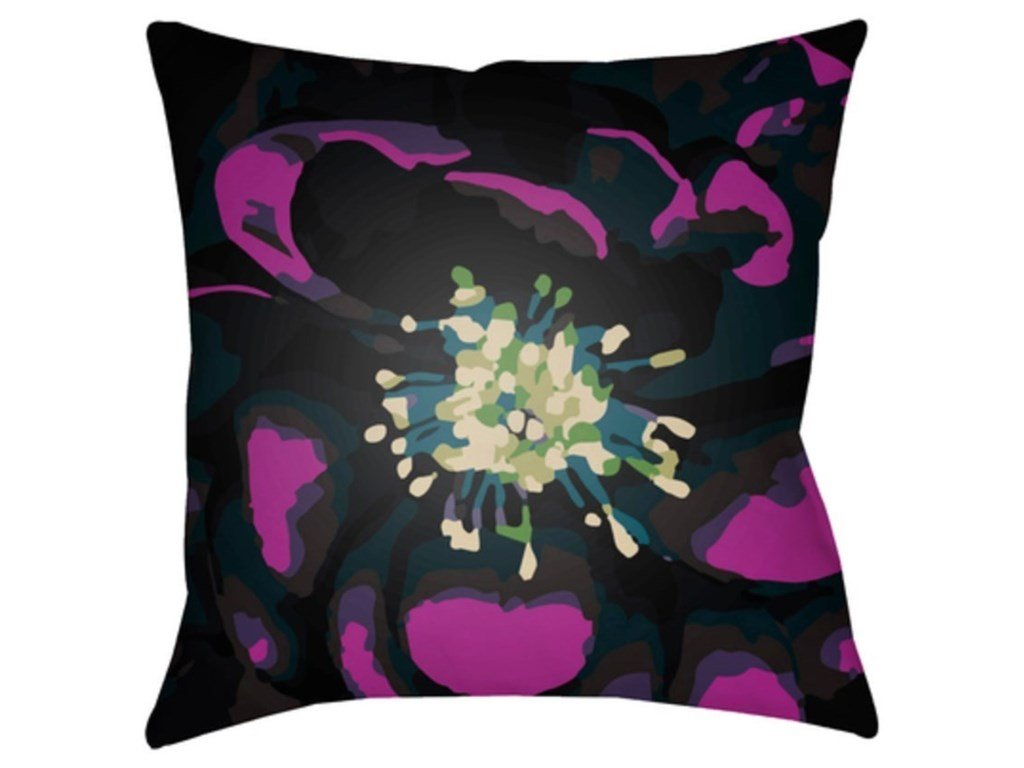 9596 Abstract FloralPillow
