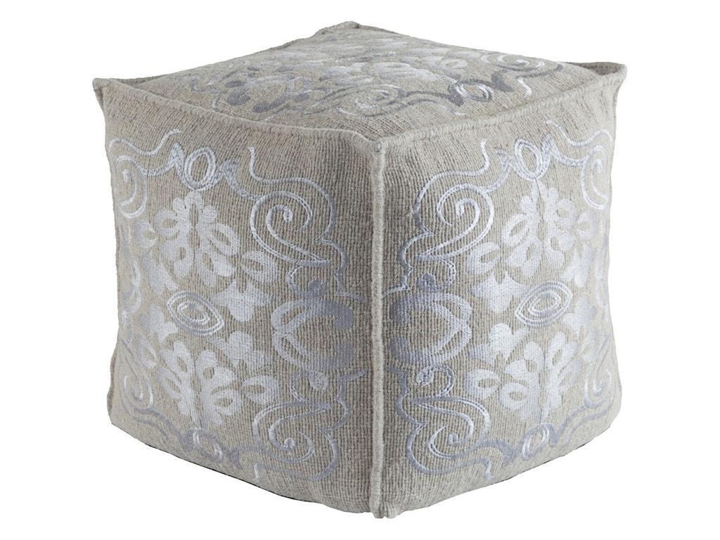 Surya Adeline18 x 18 x 18 Cube Pouf