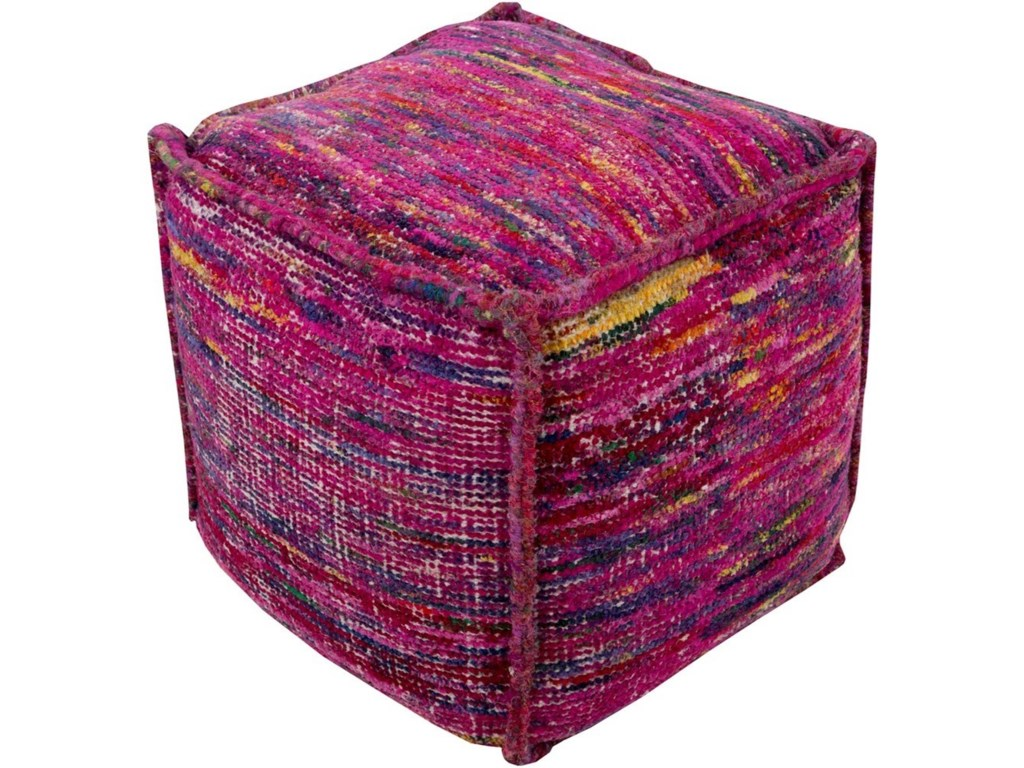 Surya Bazaar18 x 18 x 18 Cube Pouf