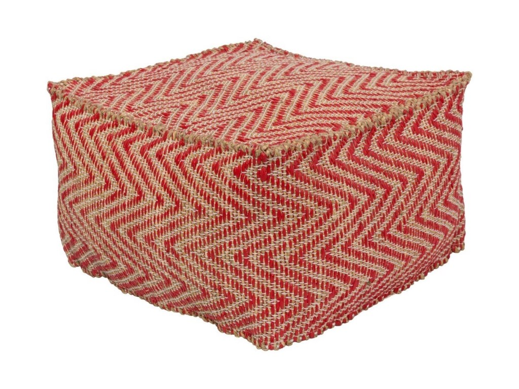 Surya Bodega20 x 20 x 12 Cube Pouf