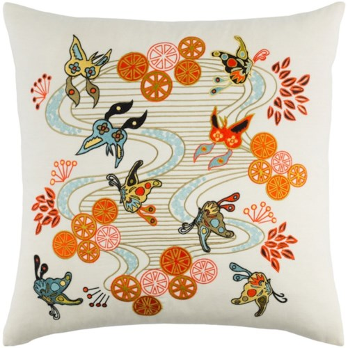 Surya Chinese River 18 x 18 x 0.25 Pillow Cover