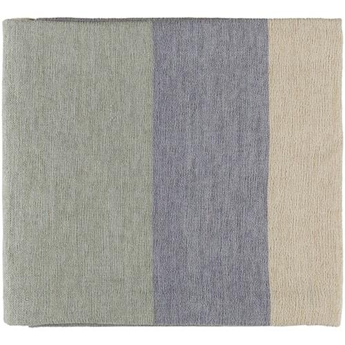 Surya Meadowlark Pale Blue, Silver Gray, Light Gray Throw Blanket, and